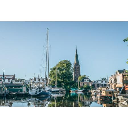 LAMINATED POSTER Yachts Towns Marina Docks Boats Village City Poster Print 24 x 36 - Party City Marina