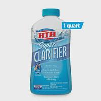 HTH Super Clarifier, Clears Cloudy Water in Swimming Pools, 1 Qt