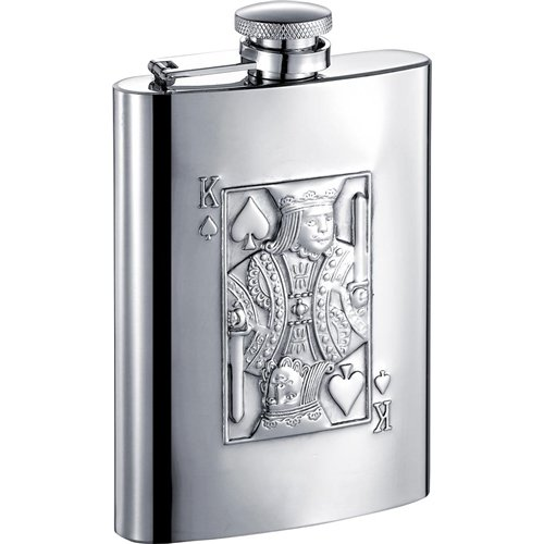 Visol Products King of Spades Hip Flask