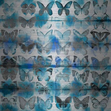 Parvez Taj Powder Blue Wings Art Print on Brushed Aluminum