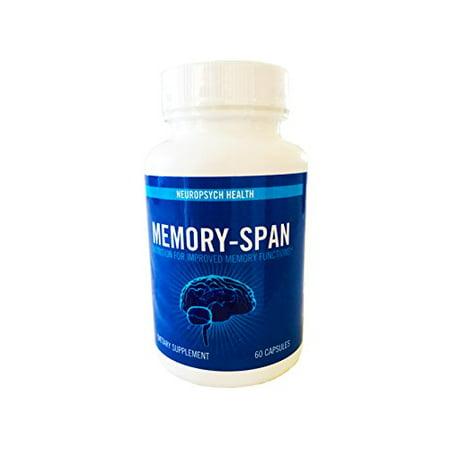 Memory Span Brain Nootropics Supplement With Dmae Gaba Vitamin B6