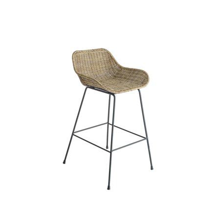 Swell Design Ideas Ormond Counter Stool Natural Woven Rattan Seat With Black Iron Metal Legs 35 Height Gmtry Best Dining Table And Chair Ideas Images Gmtryco