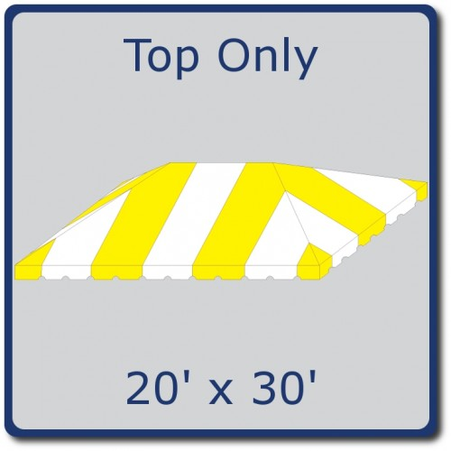 Party Tents Direct 20x30 Outdoor Wedding Canopy Event Tent Top ONLY, Various Colors