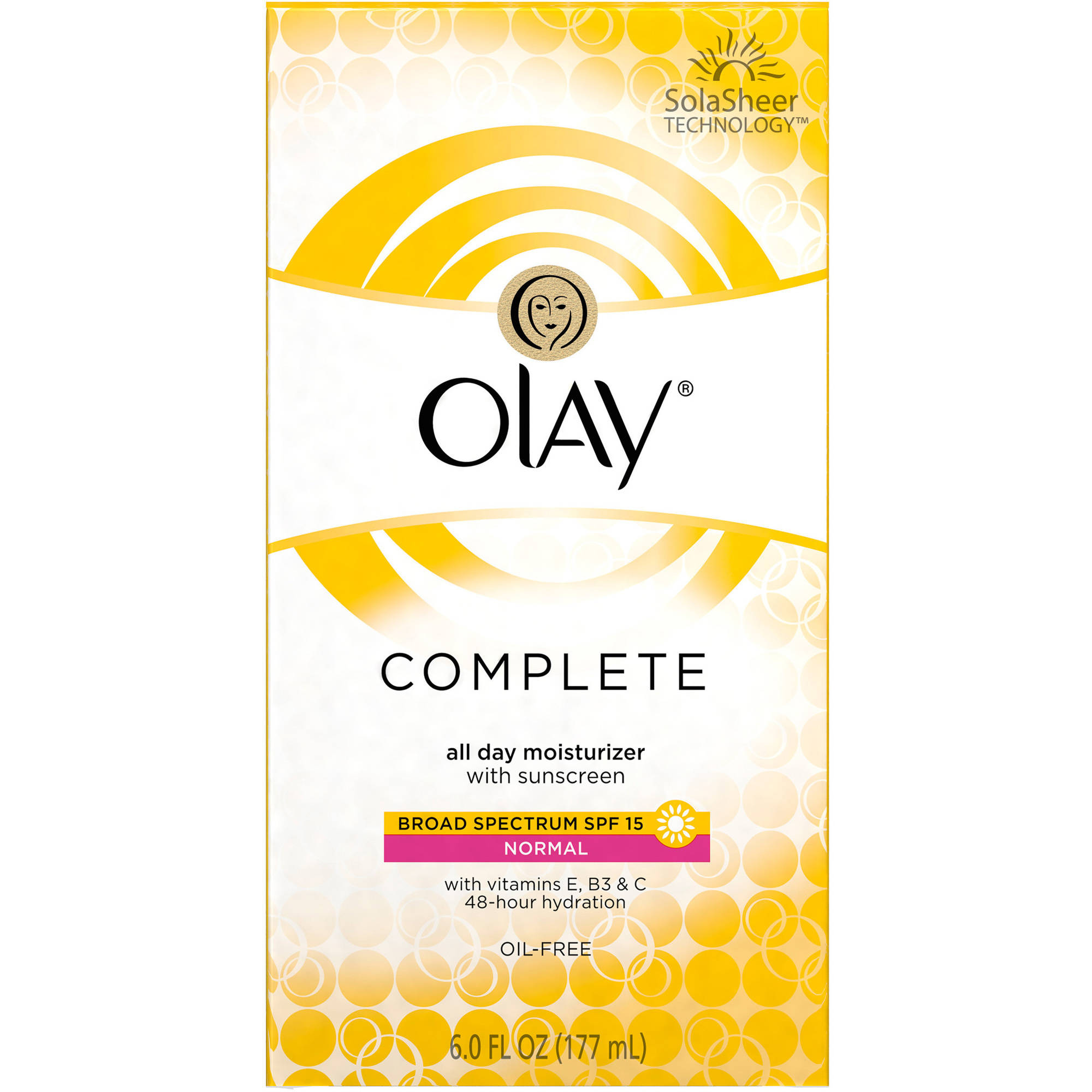 Olay Complete All-Day UV Facial Moisturizer with SPF 15 for Normal Skin, 6 fl. oz.