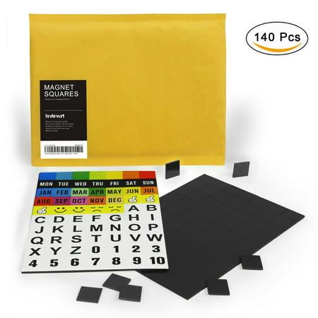 - Lavievert Magnetic Squares Perfect for Fridge, DIY Art - 2-pack