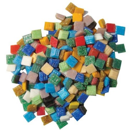 - Jennifer's Mosaics Variety 3/8-Inch Venetian Style Glass Mosaic Tile, Assorted Colors, 3-Pound
