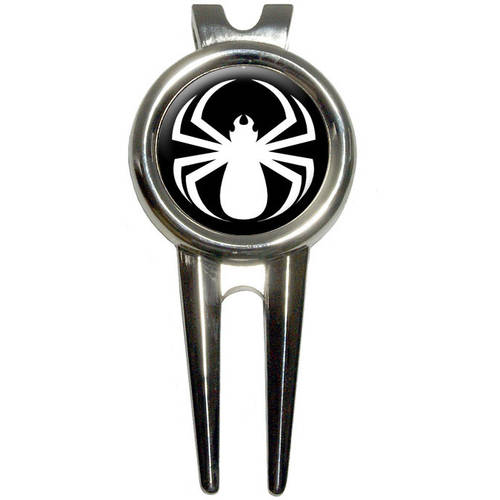 Spider White/Black Widow Golf Divot Repair Tool and Ball Marker
