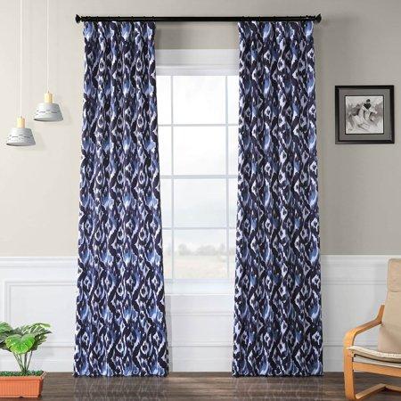 Exclusive Fabrics  Bukhara Blue Blackout Curtain Curtain Panel Pair ()