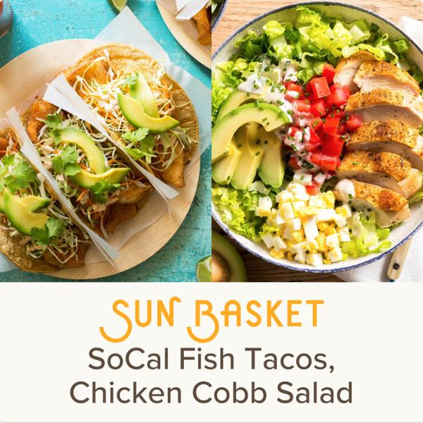 Sun Basket Meal Kits, 2 Recipes Serving 2, Organic Produce