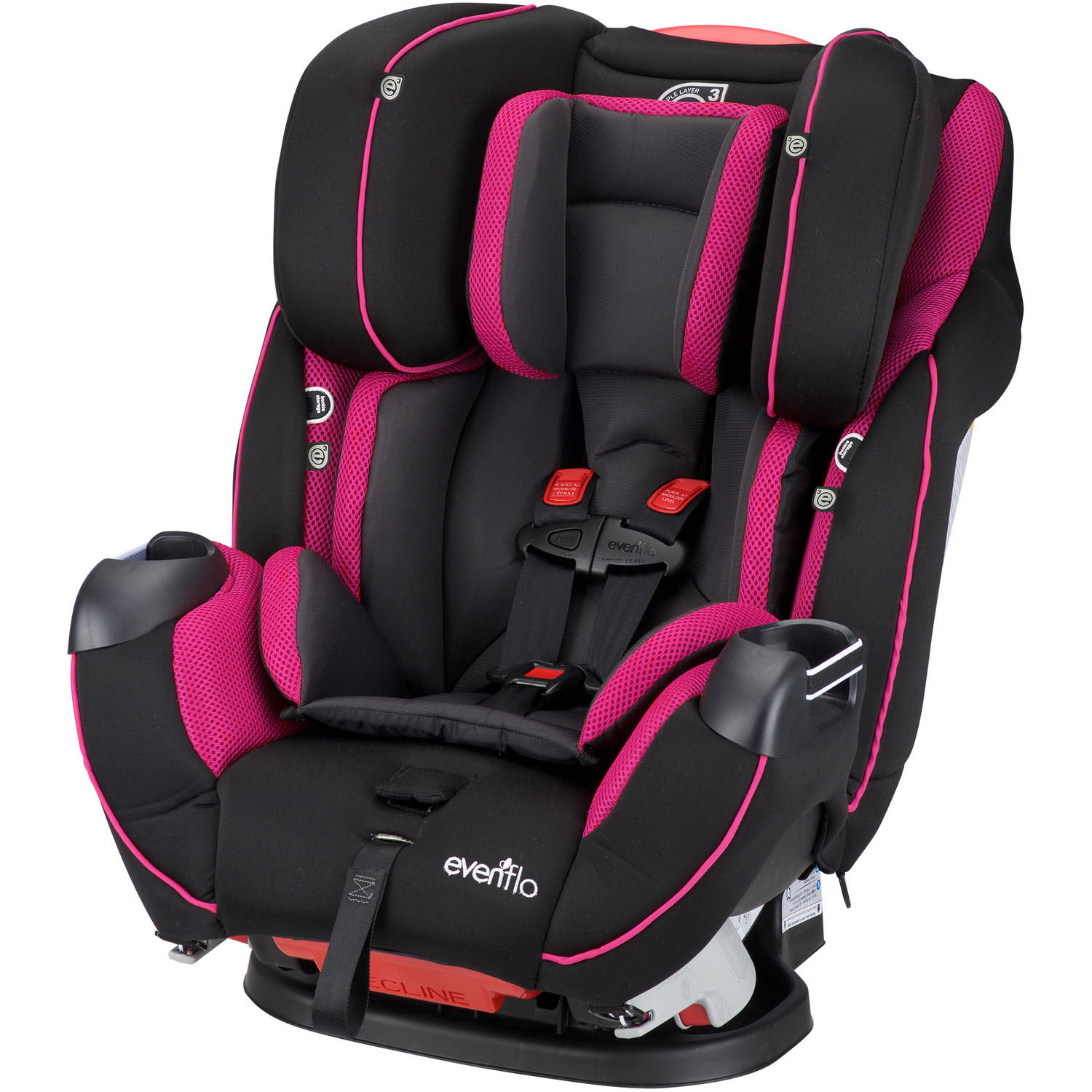 Evenflo Symphony DLX All-In-One Convertible Car Seat, Raspberry Sorbet by Evenflo