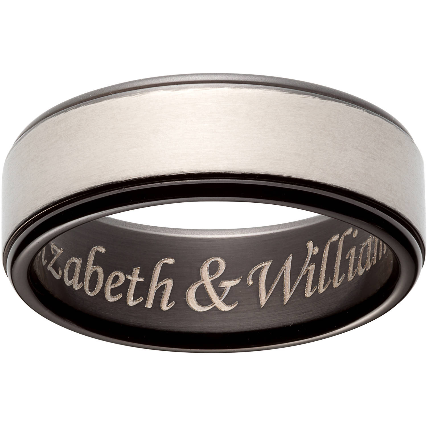 Personalized Titanium 2-Tone Message Band