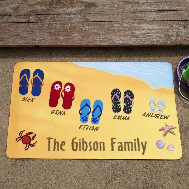 """Personalized Flip-Flops Doormat, 17"""" x 27"""