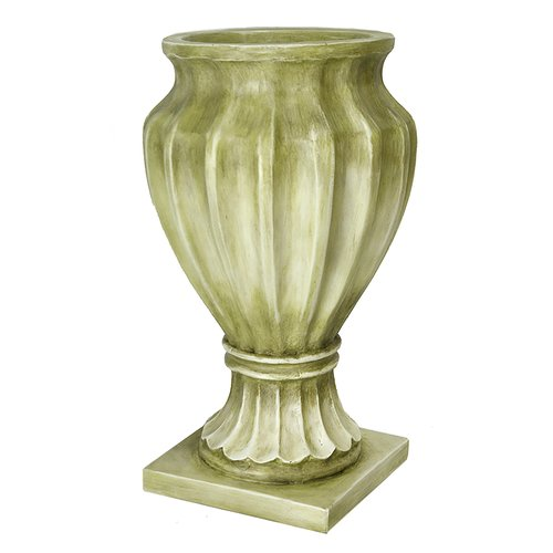 Heather Ann Creations Poly-stone Urn Planter by