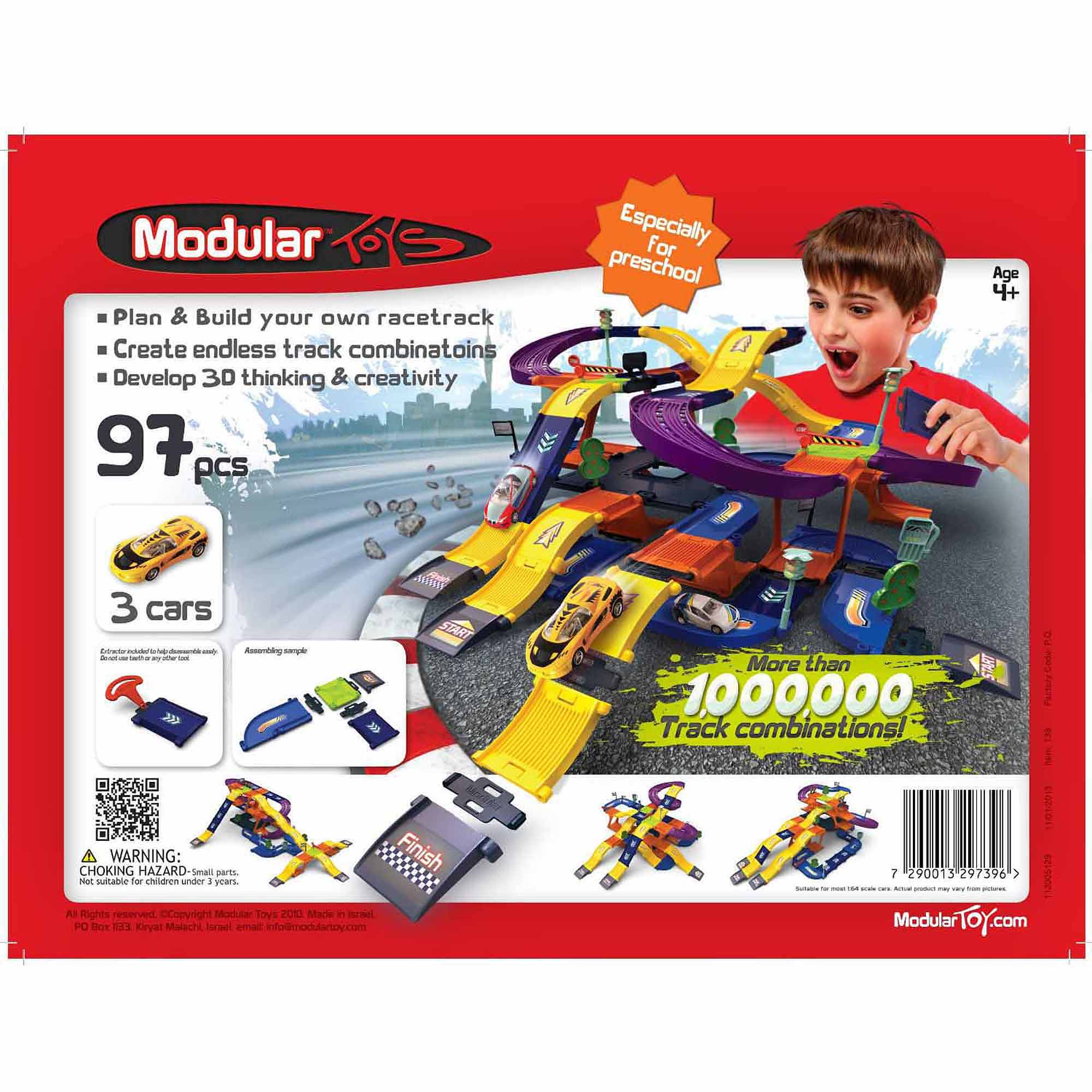 Modular Toys 3D Mega Racetrack Set with Storage