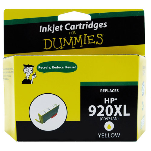 For Dummies Remanufactured Hewlett Packard 920XL Yellow Inkjet Cartridge