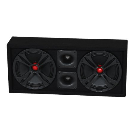 Q Power Chuchero Dual Pre Loaded 10 Inch Speaker Sub Box Enclosure w/ 2