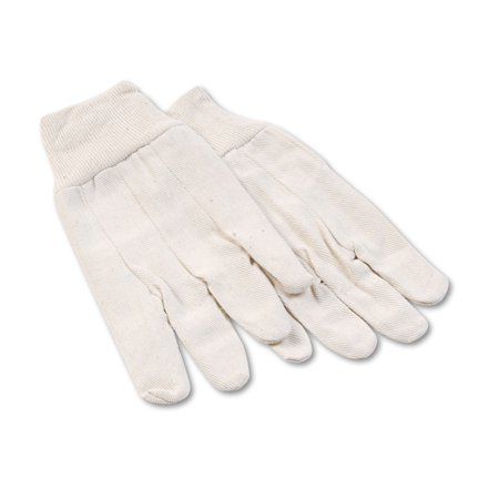 8 oz Cotton Canvas Gloves, Large, 12 Pairs