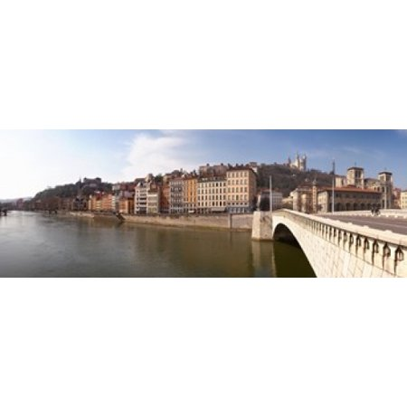 Bonaparte Poster Bed (Bonaparte Bridge over the Saone River Lyon Rhone Rhone-Alpes France Poster Print)