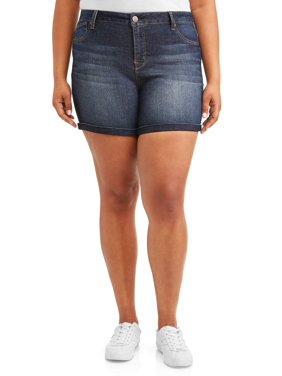 f450ddb3e00e82 Product Image Women's Plus Size Roll Cuff Bermuda