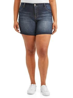 7a92542150cd4 Product Image Women's Plus Size Roll Cuff Bermuda