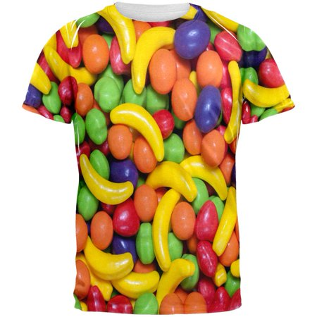 Halloween Fruit Candy All Over Adult T-Shirt - Halloween Inspired Fruit
