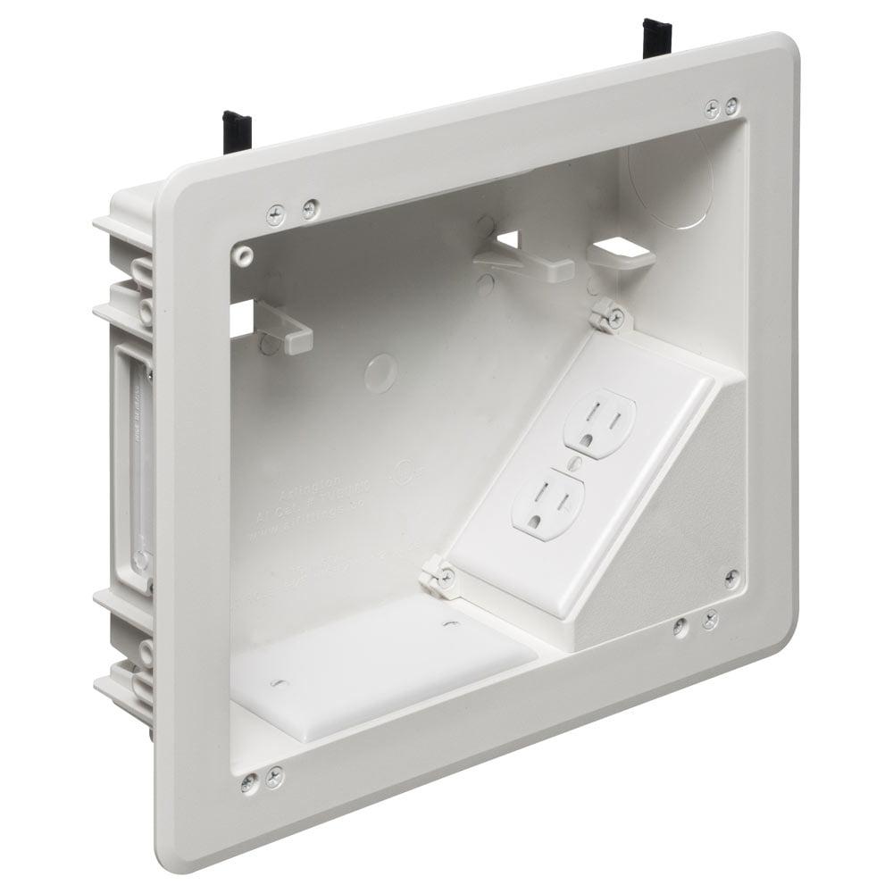 Arlington 8x10 TV BOX for Power & Low-Voltage (TVBU810)