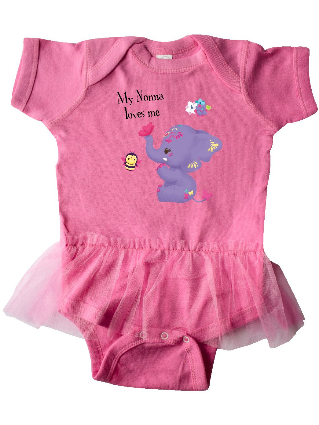 Tiny Tusks inktastic Nonna Loves Me Blue Purple Elephant Cute Toddler T-Shirt
