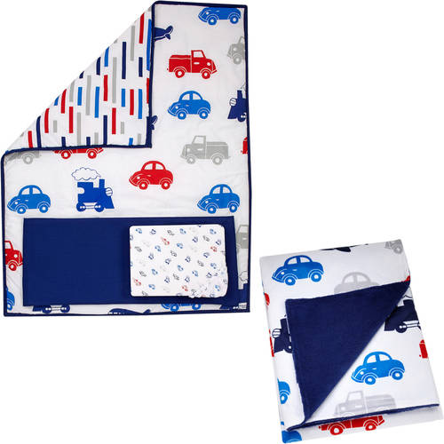 Little Bedding by Nojo On the Go 3-Piece Crib Bedding Set with BONUS Blanket