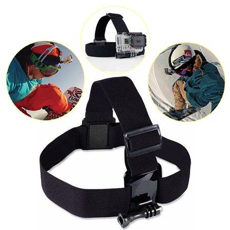 Headband Adapters Kit - Outdoor Head Strap Adjustable Elastic Mount Belt Headband Adapter For HD Hero 3/3+4/5/6 Camera