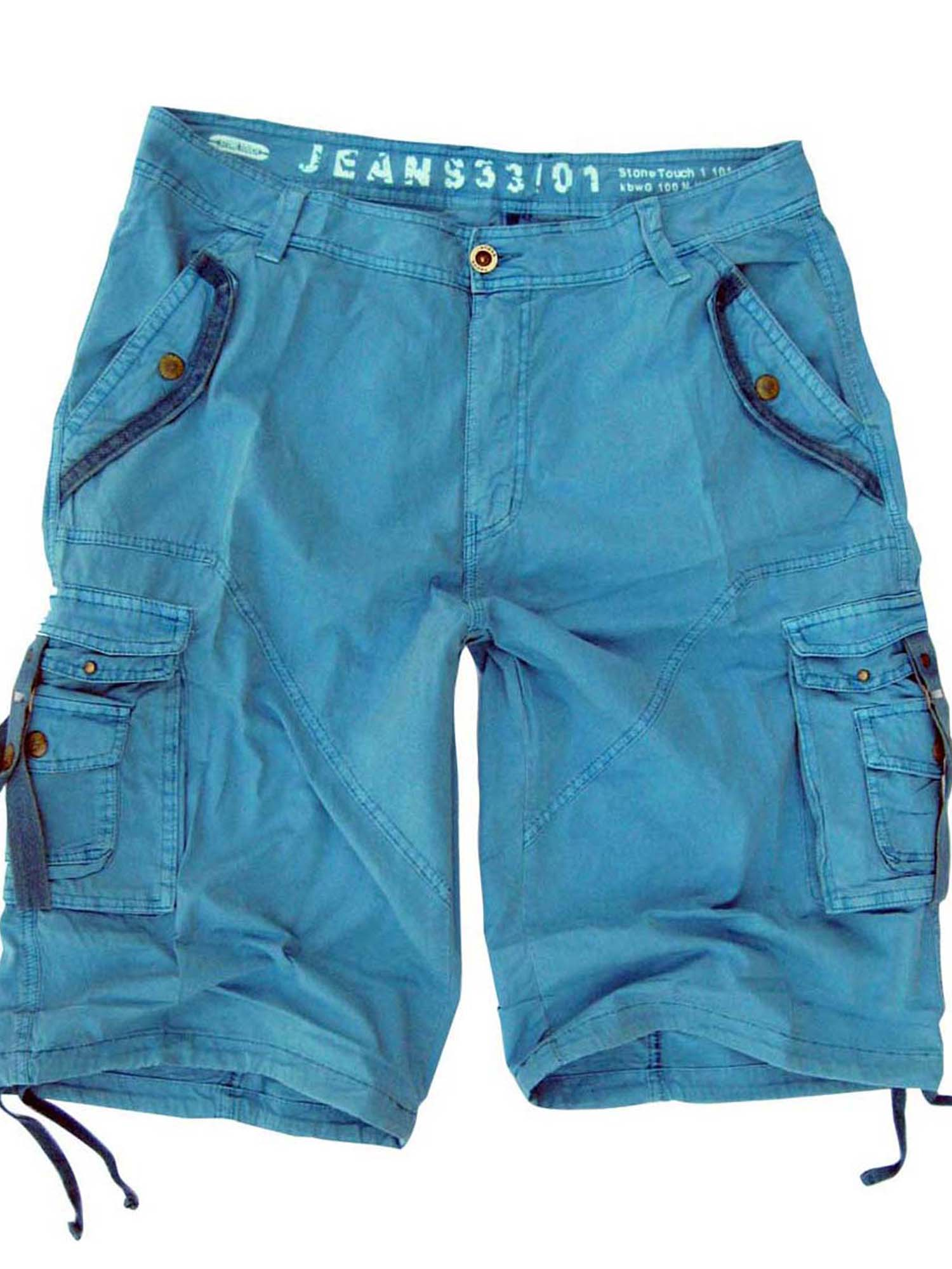 Mens Military Style Light Blue Cargo Shorts #A8s Size 44