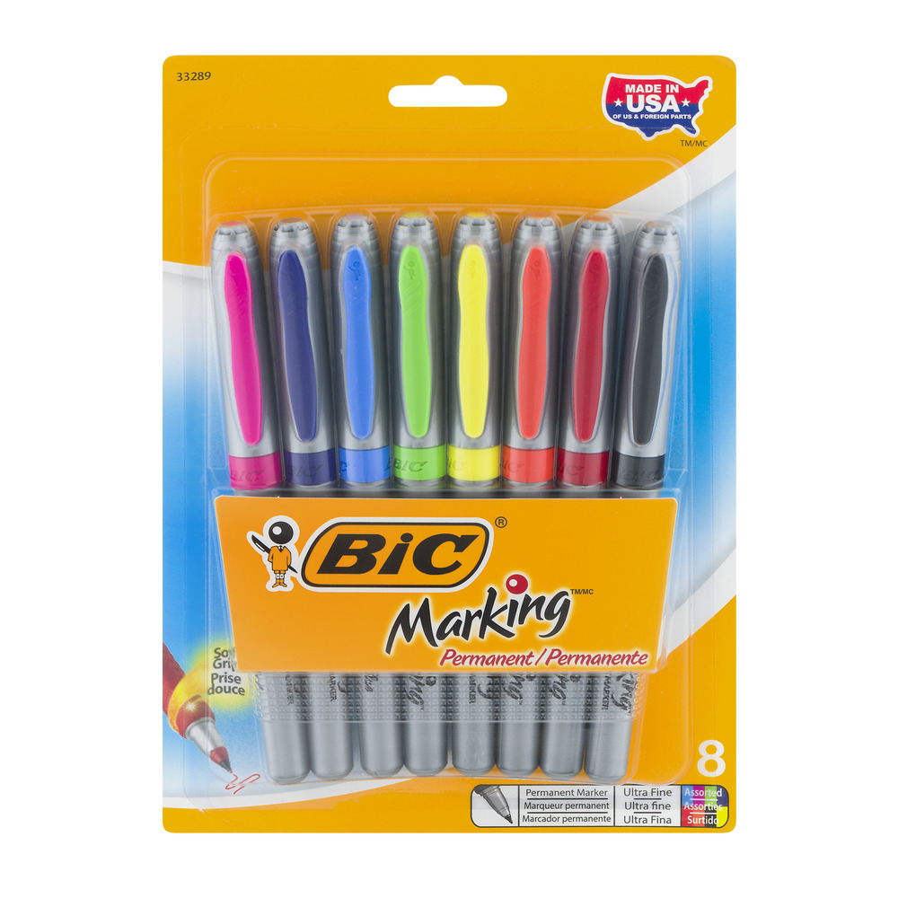 BiC Marking Permanent Markers Ultra Fine - 8 CT