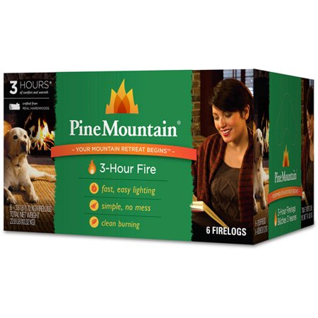 Pine Mountain 6-Pack, 3-Hour Firelogs, Easy (Firewood)