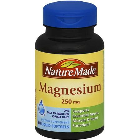 Liquid Magnesium Blend - Nature Made Magnesium 250 mg Liquid Softgels 90 ea