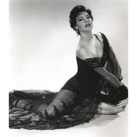 Black and White Portrait of Ava Gardner in Sexy Black Lingerie Photo (Sexy Black And White Photos Of Couples)