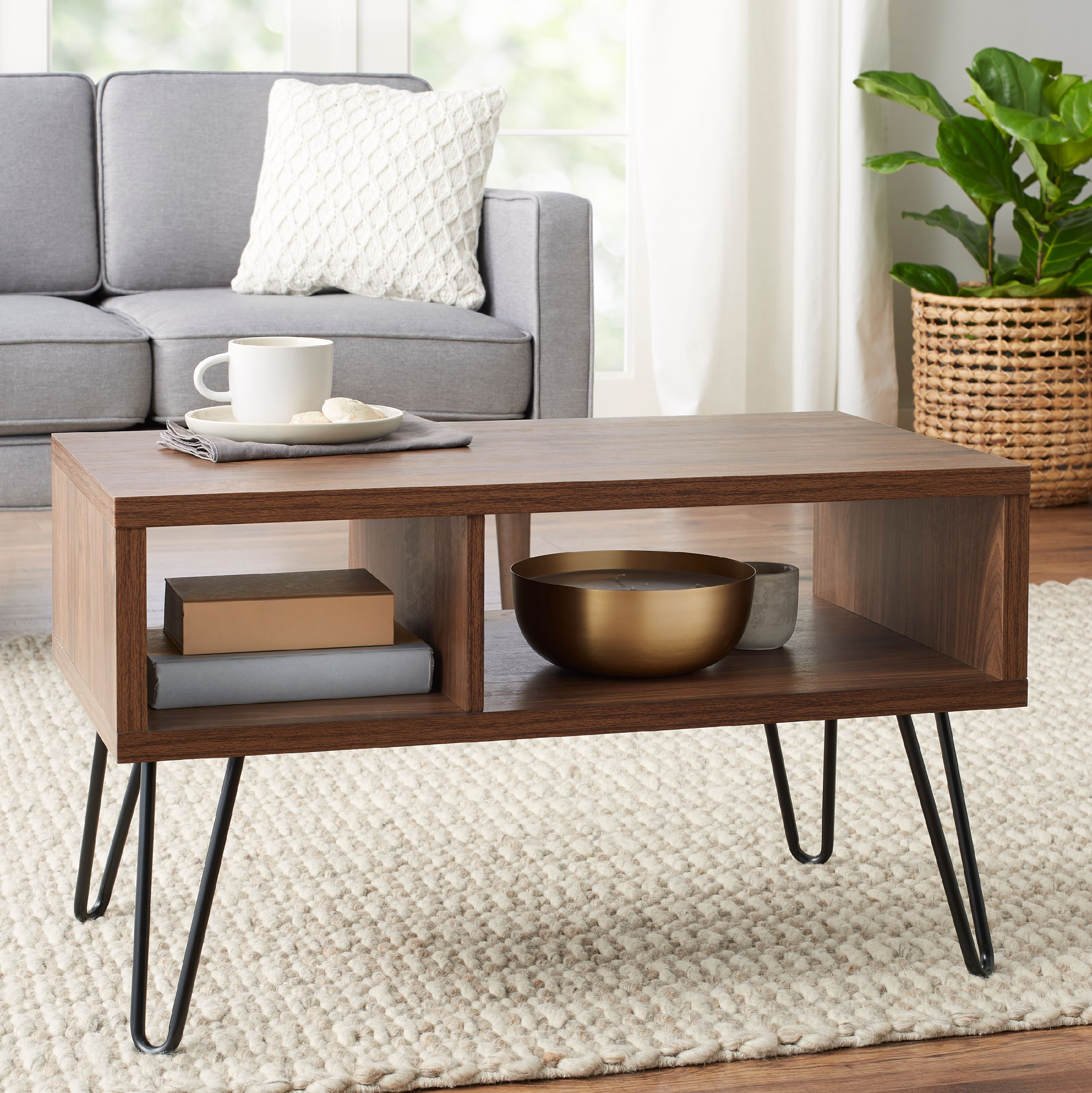 Mainstays Bennett Mid Century Hairpin Coffee Table
