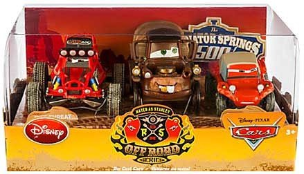 Disney   Pixar CARS Movie Exclusive 1:43 Die Cast Car 3-Pack Mater as Stanley Off Road Series [Stanley mater,... by