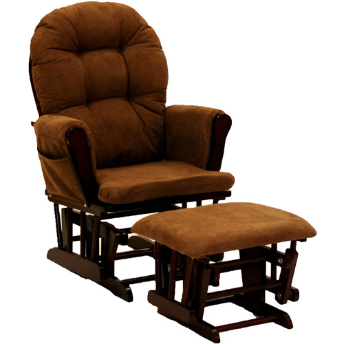 Storkcraft Hoop Glider and Ottoman, Cherry and Chocolate