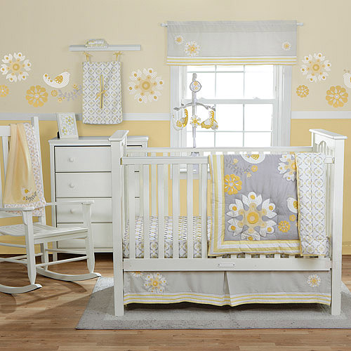 MiGi by BananaFish Sweet Sunshine Collection 3-Piece Crib Bedding Set - Value Bundle