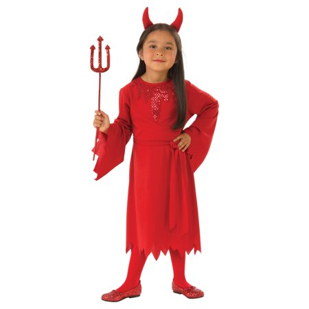 Girls Devil Costume - Girl Devil Halloween Makeup
