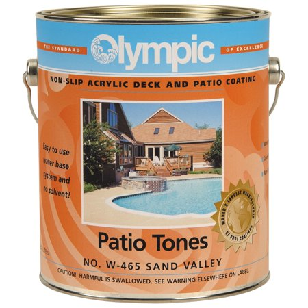 1 Gallon Olympic Patio Tones Deck Coating - Champagne Concrete Pool Deck Coating