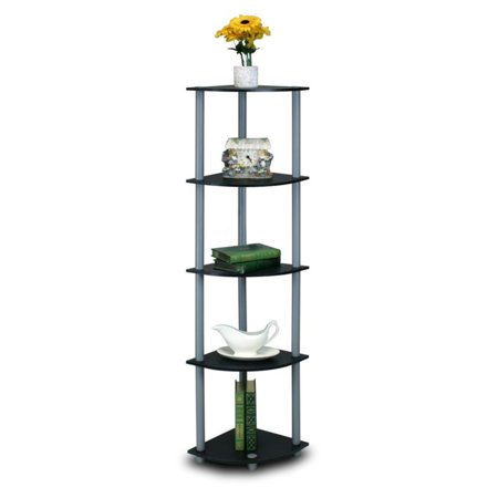 Furinno 99811 Turn-N-Tube 5-Tier Corner Display Rack Multipurpose Shelving  Unit - Walmart.com