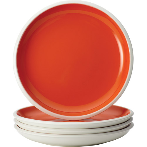 Rachael Ray Dinnerware Rise Collection 4-Piece Stoneware Salad Plate Set Orange  sc 1 st  Walmart & Rachael Ray Dinnerware Rise Collection 4-Piece Stoneware Salad Plate ...