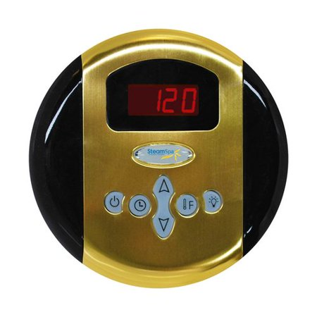Steam Spa G-SC-200-PG Steam Spa Programmable Control Panel with Time and Temperature Presents; Polished