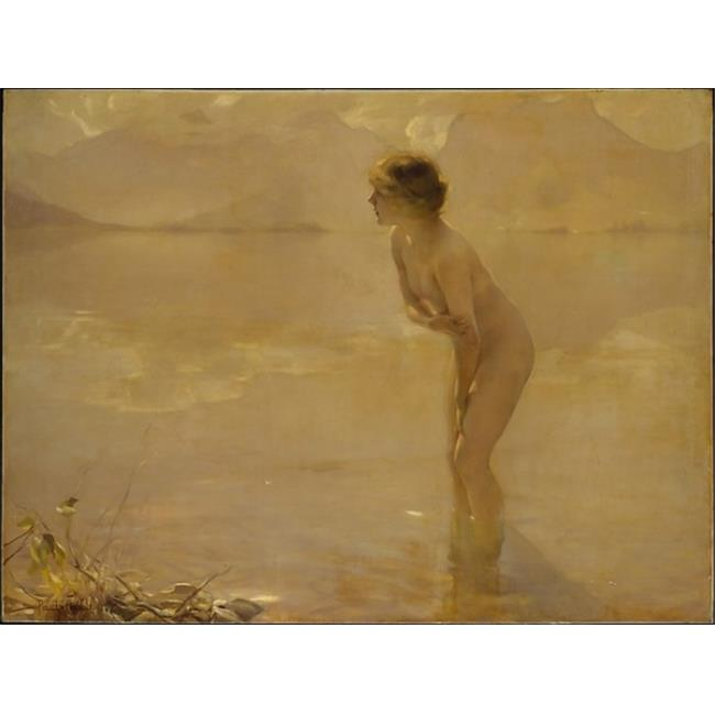 Public Domain Images MET488977 September Morn Poster Print by Paul Chabas, French 1869 1937, 18 x 24 - image 1 de 1