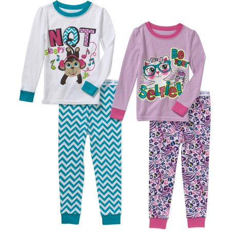 0e1bb1037f Garanimals - Baby Toddler Girl Cotton Tight Fit Pajamas