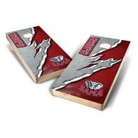 Alabama Crimson Tide 2' x 4' Ripped Design Cornhole Board Set