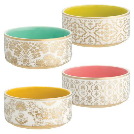 Ana Davis Lola Shimmer 4 pc. Ceramic Tidbit Bowl Set - Kathy Davis Dinnerware