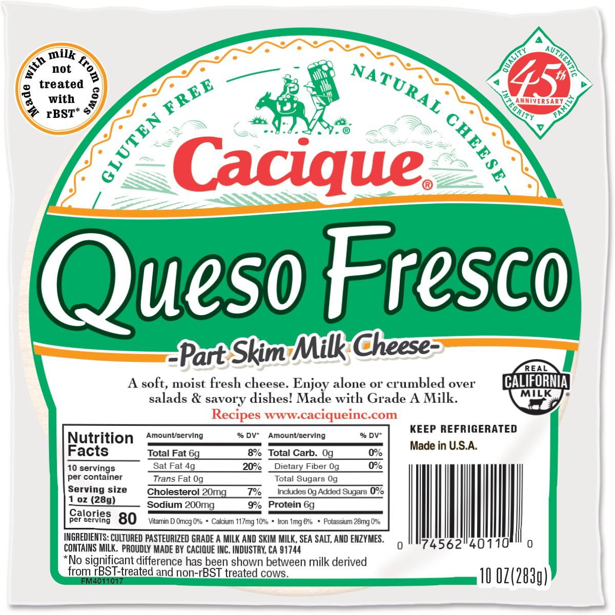Cacique Part Skim Milk Cheese, 10 oz