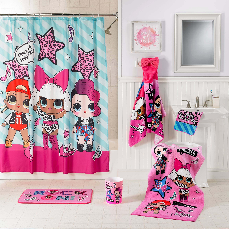 "Franco Kids Bathroom Decorative Fabric Shower Curtain L.O.L 72 x 72/"" Surprise!"