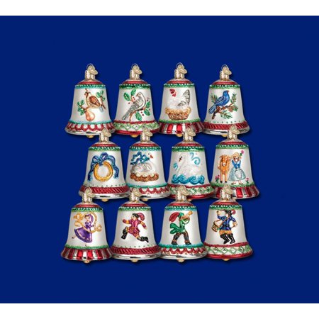 Twelve Days of Christmas Bells, Set of 12 Glass Ornaments](Halloween Glass Ornaments Set Of 12)